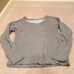 J. Crew Gray Sparkle Sweatshirt